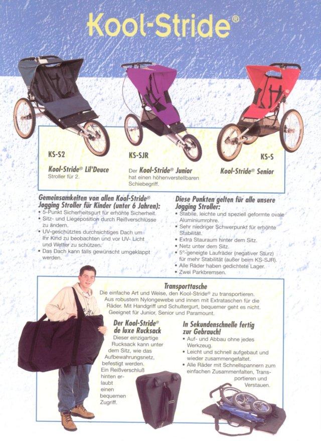 kool stride jogging stroller manual